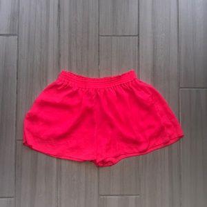 Zara TRF Loose Fit Neon Pink Shorts